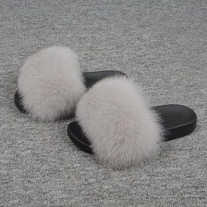 NEW! Real Fox Fur Slides / Slippers